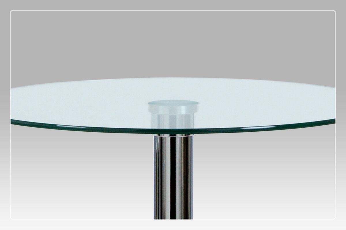 Barový stůl Isabel, 60 cm, čiré sklo
