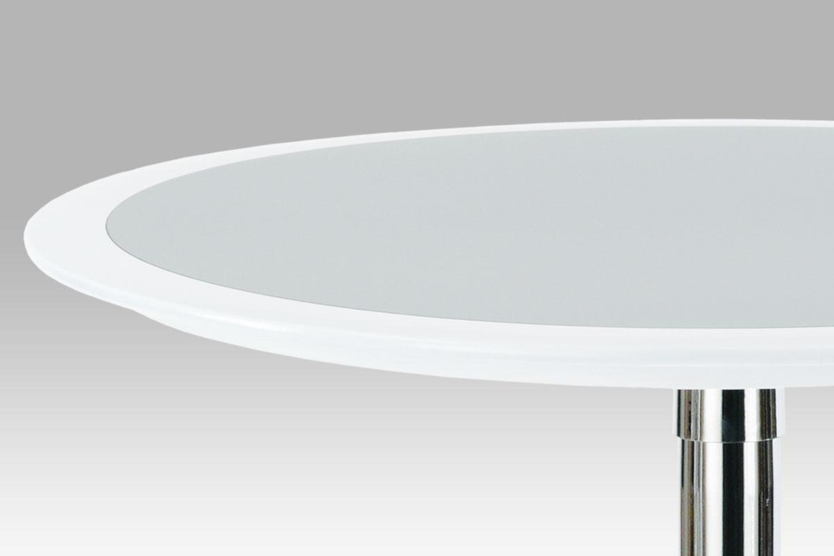 Barový stůl Isabel, 60 cm, stříbrná/bílá