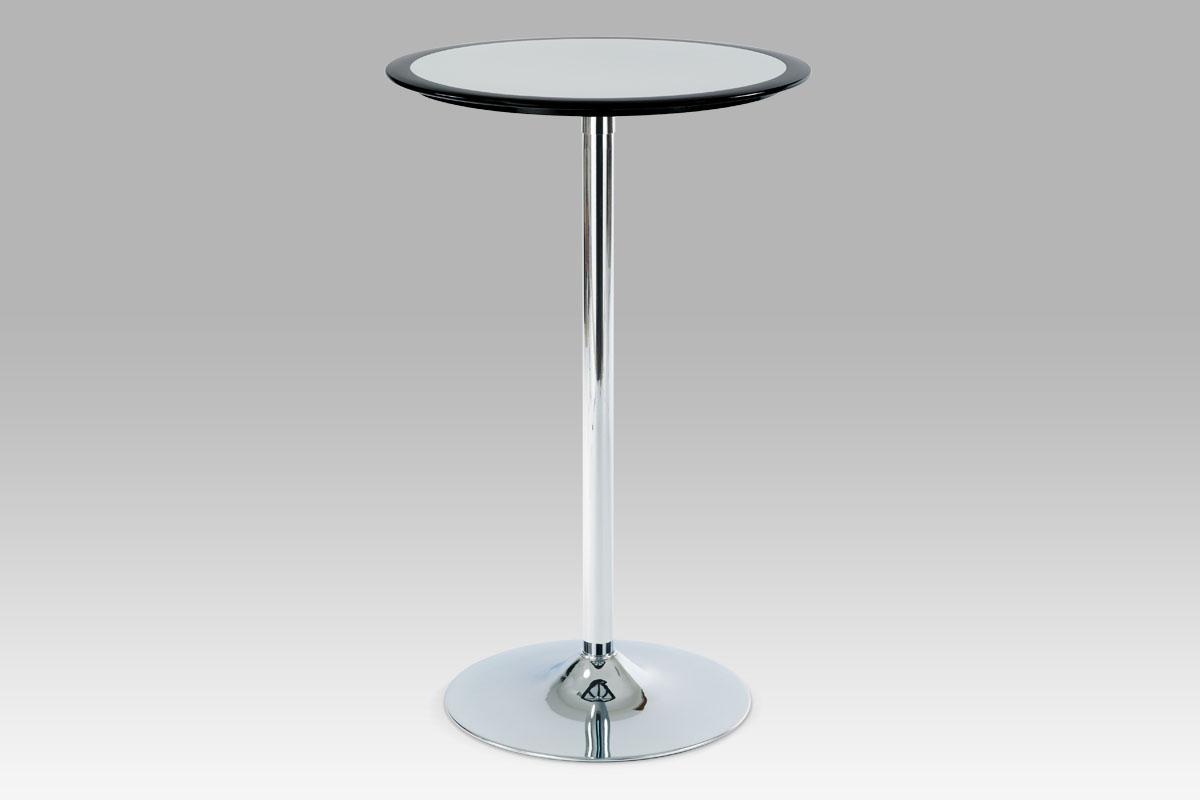 Barový stůl Isabel, 60 cm, stříbrná/černá