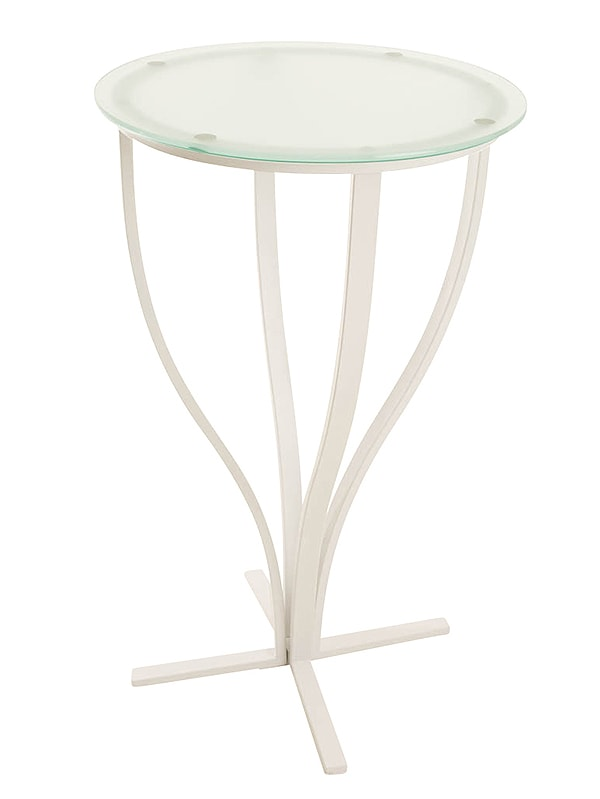 Barový stůl Rosaly, bílá podnož