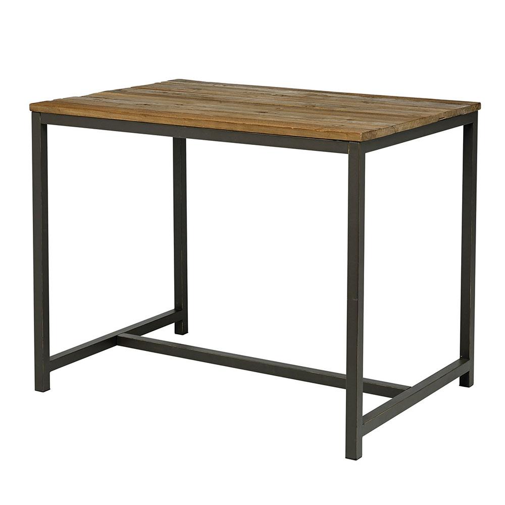 Barový stůl s dřevěnou deskou Harvest, 130 cm