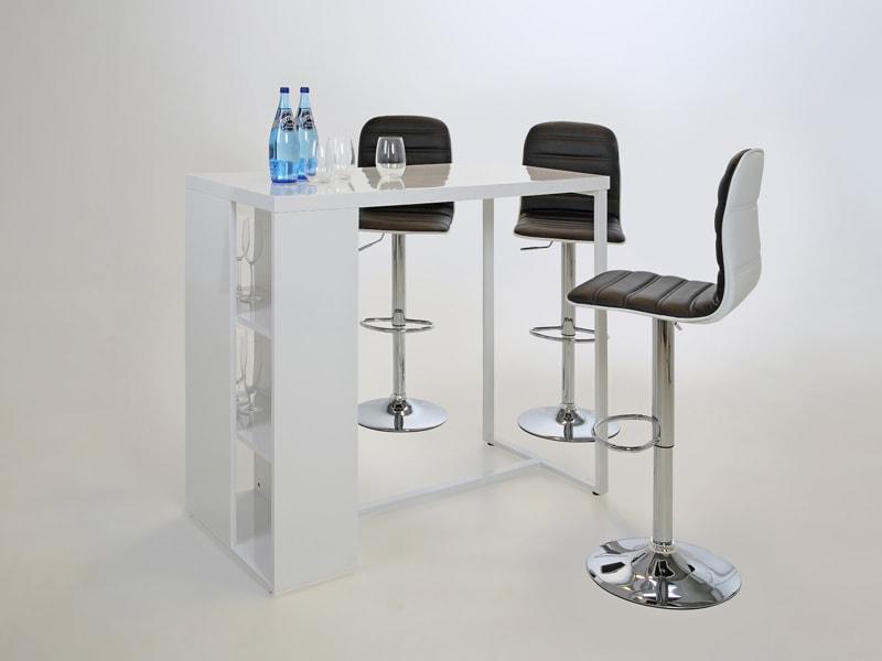 Barový stůl s policemi Garny, 120 cm
