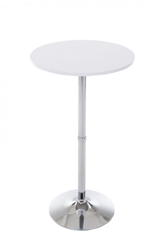 Barový stůl Sean, 108 cm, bílá