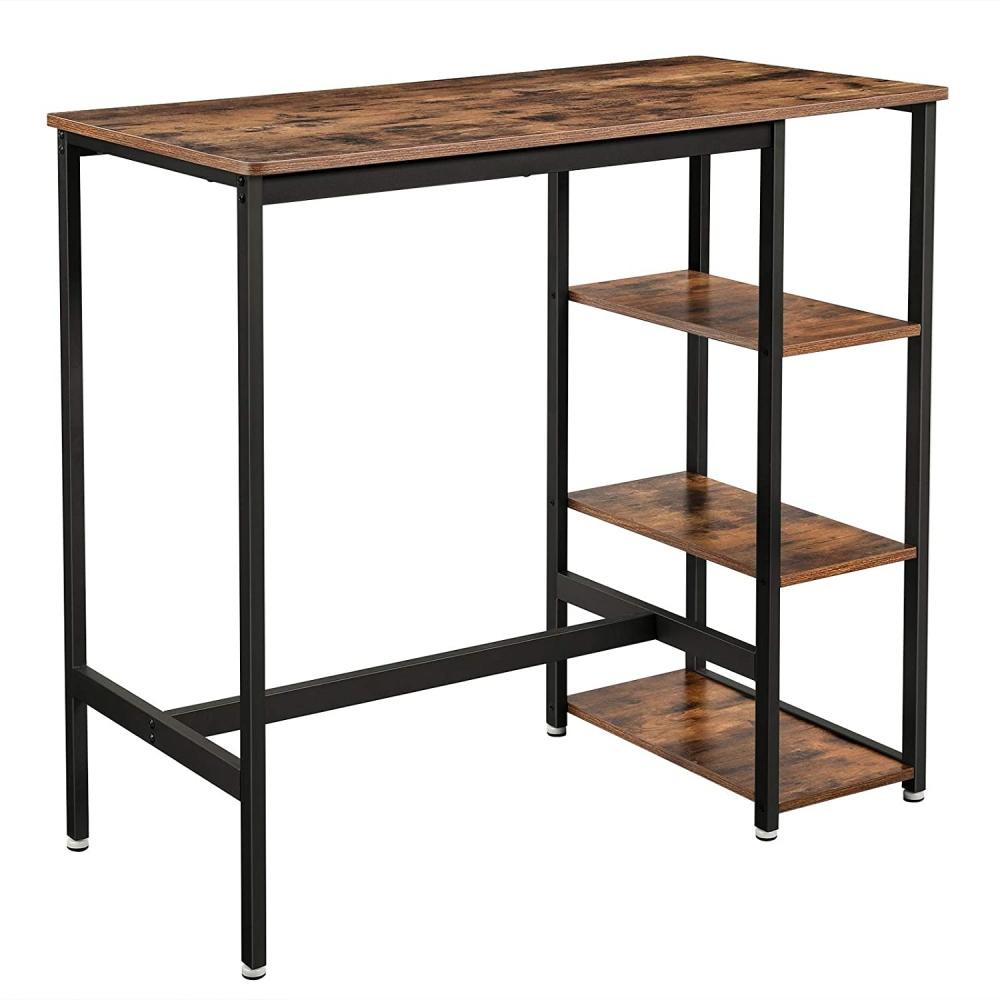 Barový stůl Stella, 109 cm, hnědá / černá