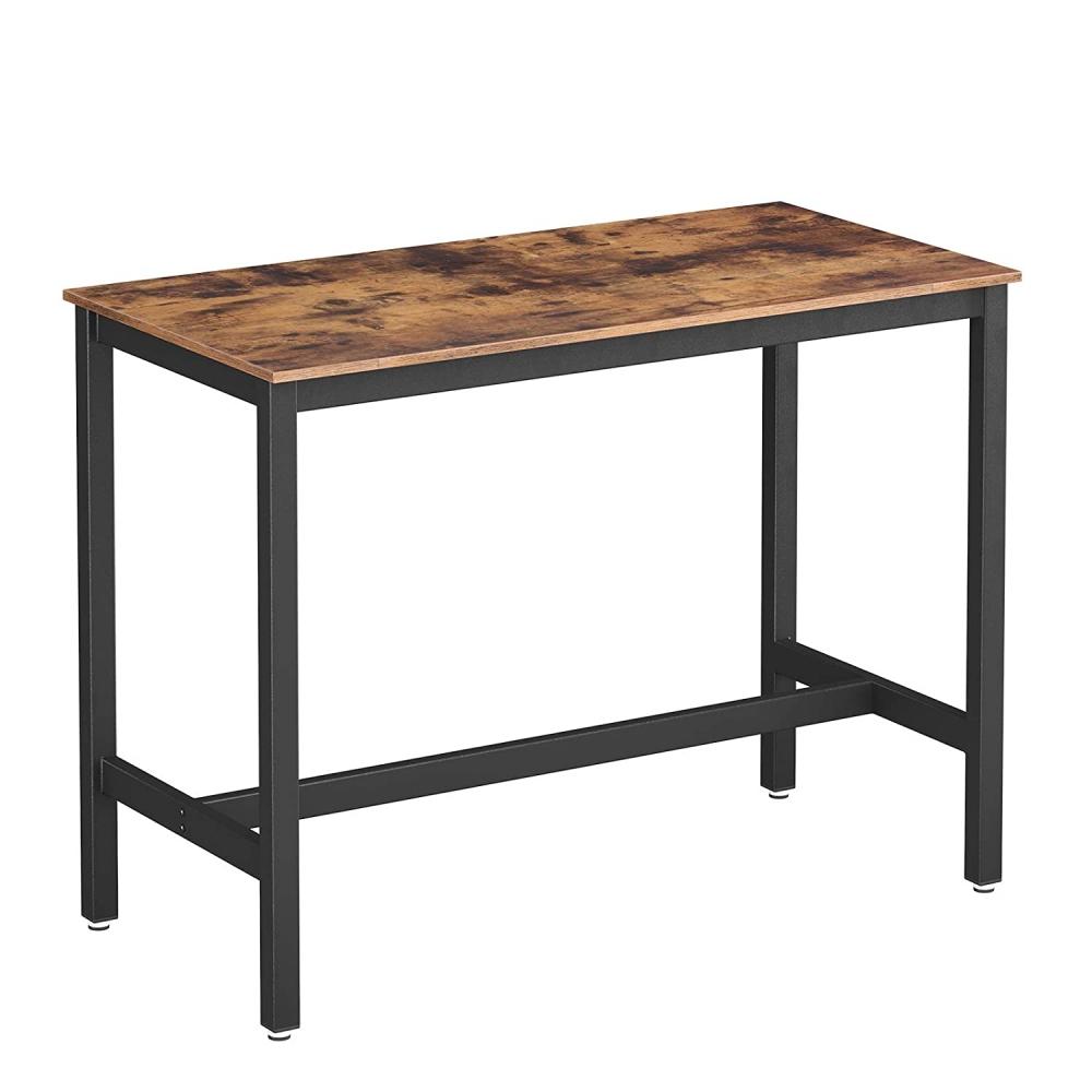 Barový stůl Stella, 120 cm, hnědá / černá