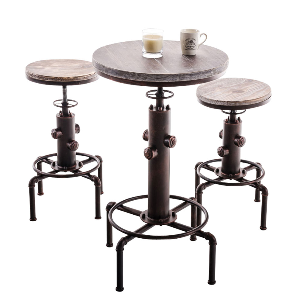 Barový stůl výškově stavitelný Lamas, bronz