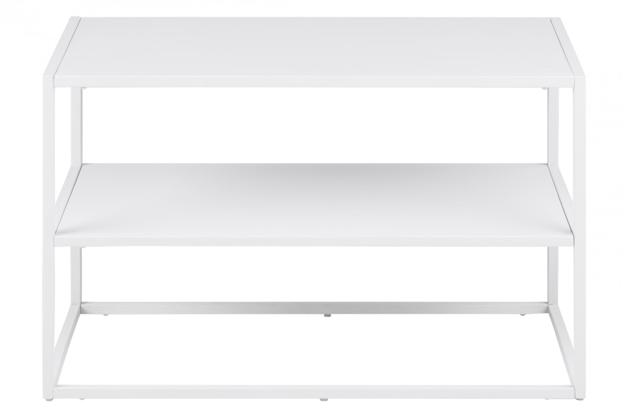 Botník kovový s dvěma policemi Lyfte, 70 cm, bílá