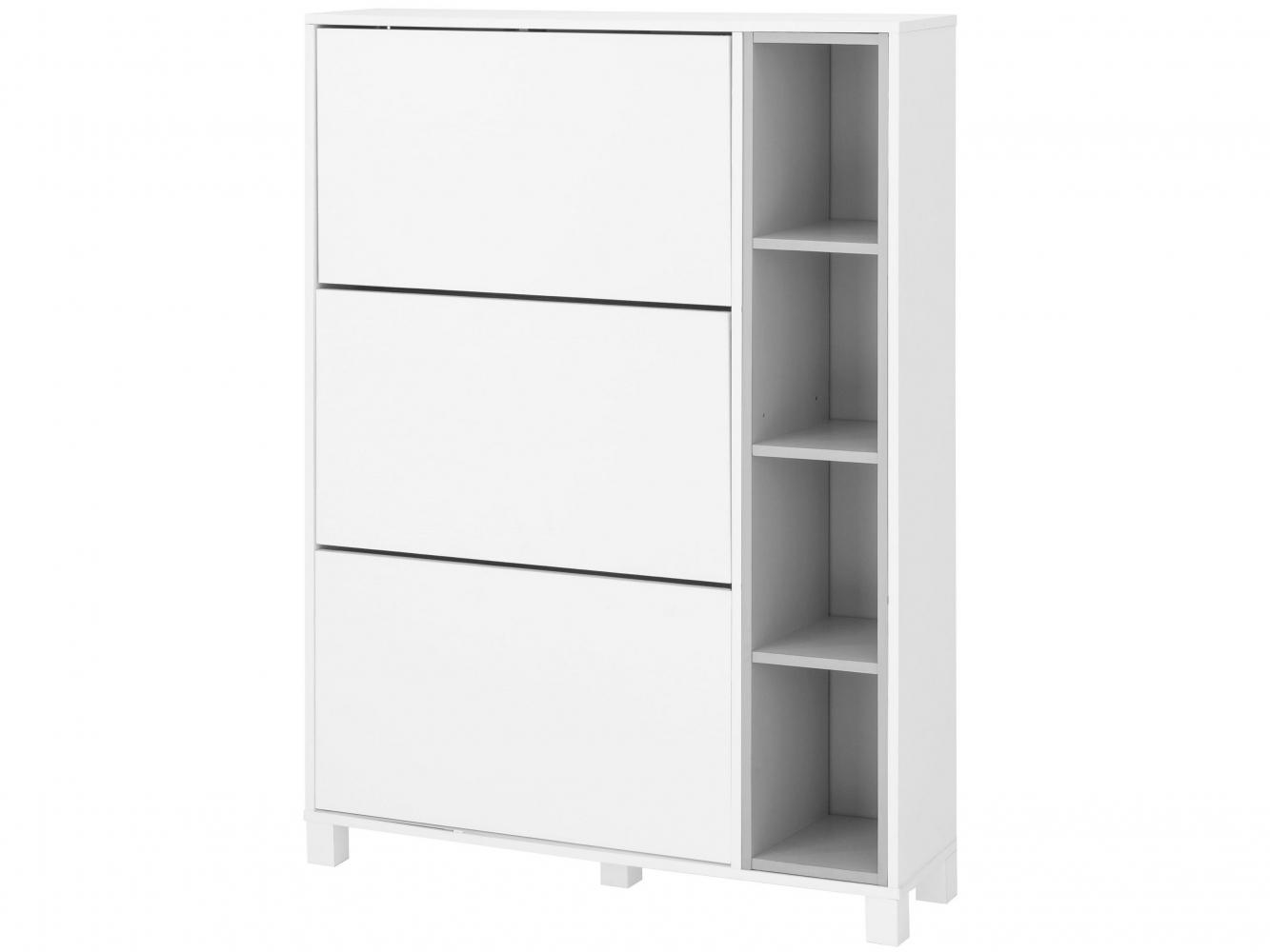 Botník Paker, 130 cm, bílá / šedá