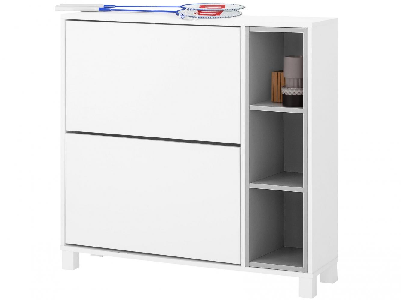Botník Paker, 95 cm, bílá / šedá