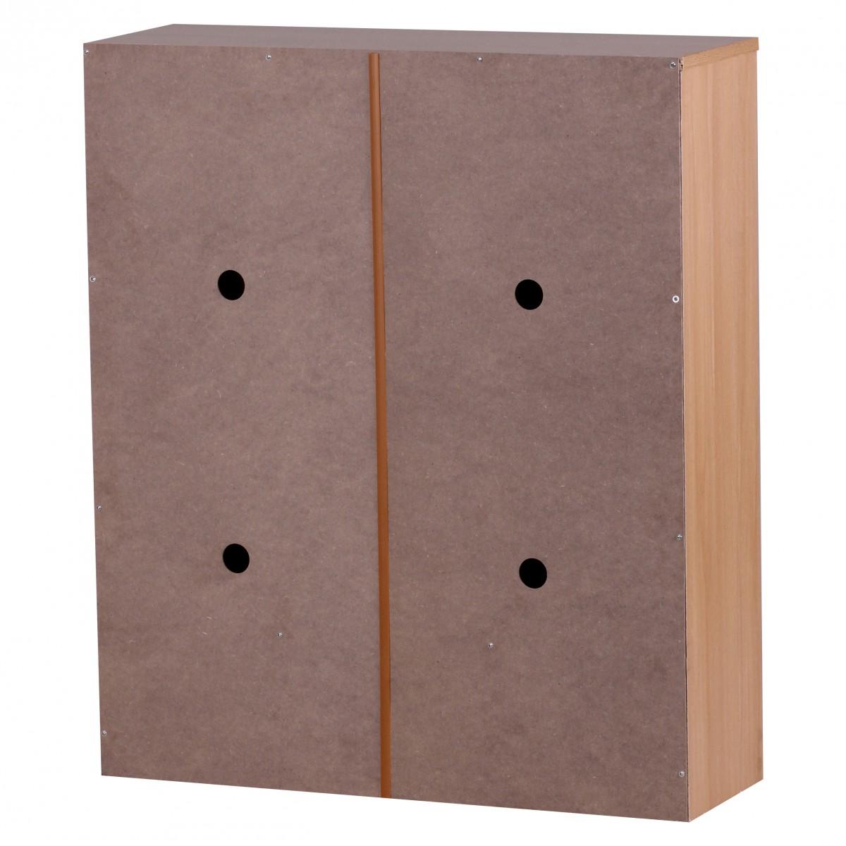 Botník s dvěma výklopnými zásuvkami Sarah, 87 cm, buk