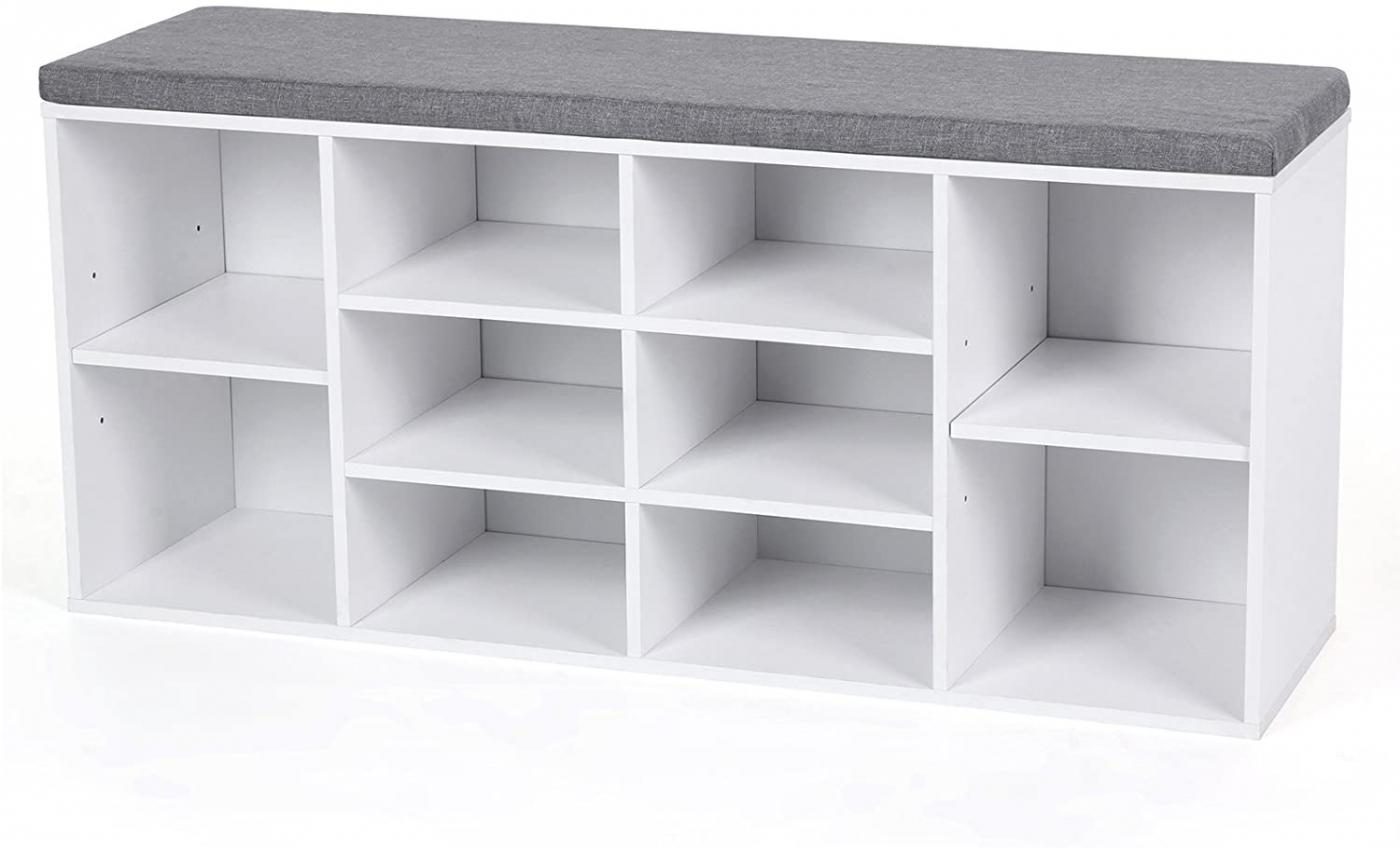 Botník s lavicí Gala, 104 cm, bílá