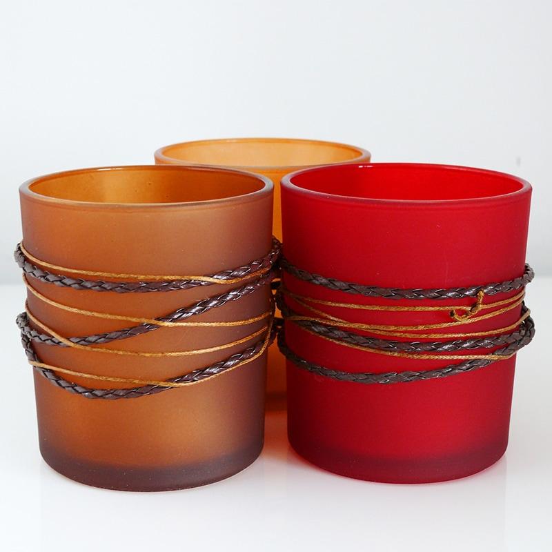 Čajové svietniky Ramo, 8 cm (SET 3 ks), viac farieb