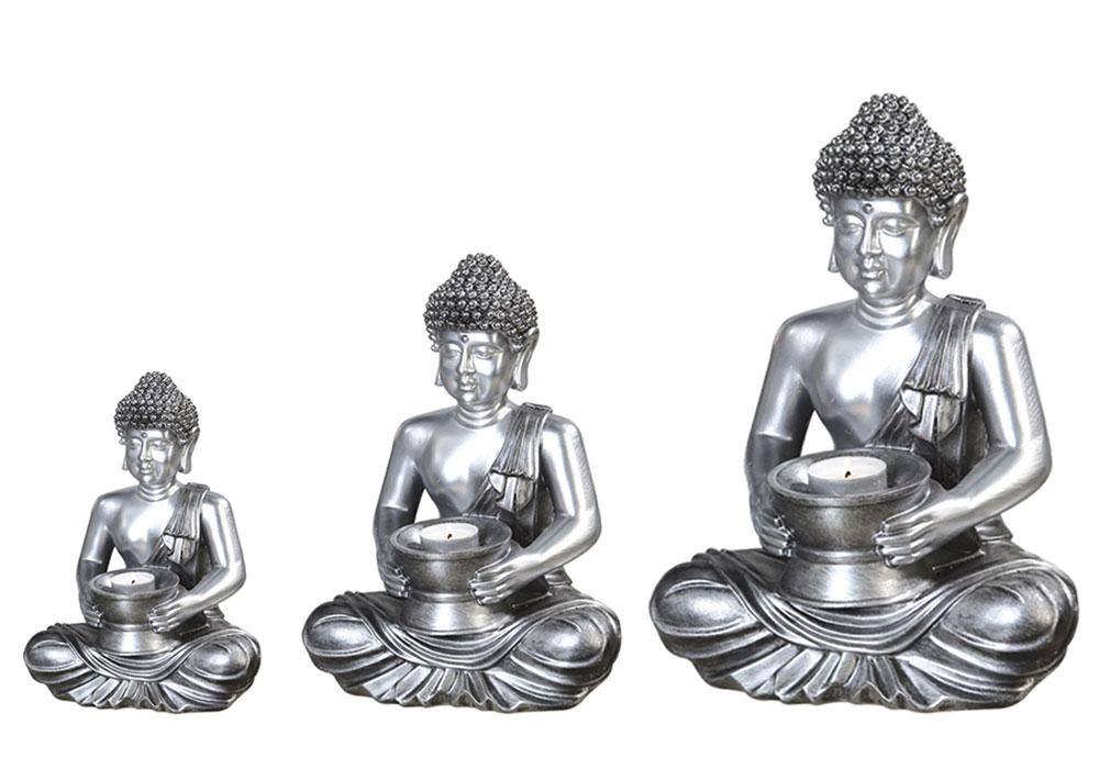 Čajový svícen Buddha, 23 cm
