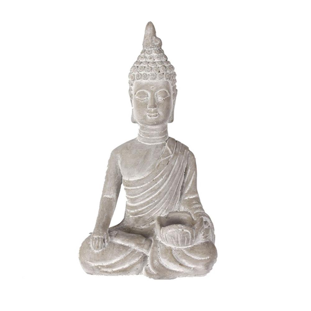 Čajový svícen Buddha, 34,5 cm, beton