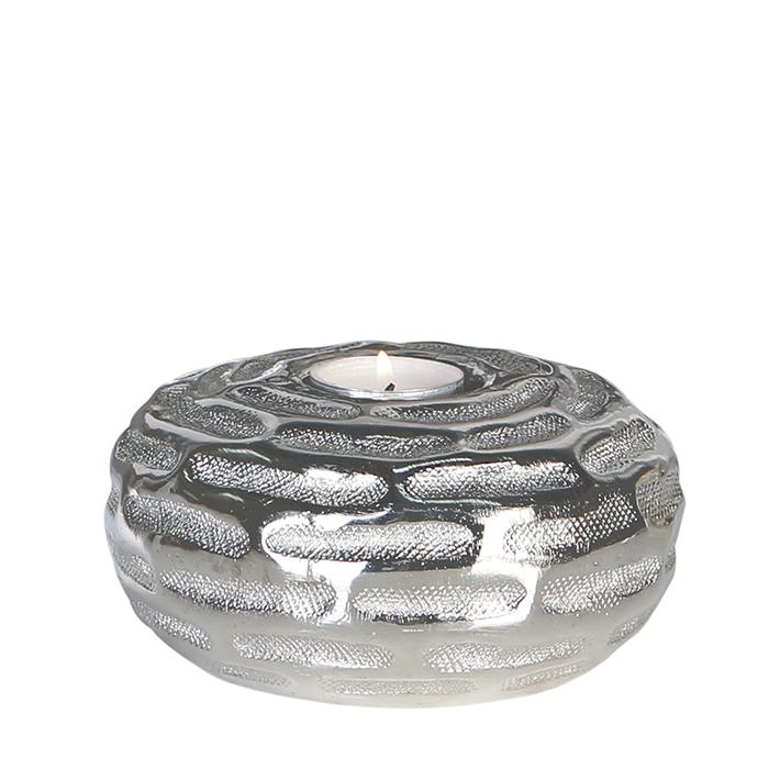 Čajový svícen hliníkový Blend, 14 cm