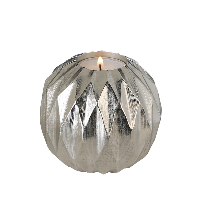 Čajový svícen hliníkový Diamond, 10 cm