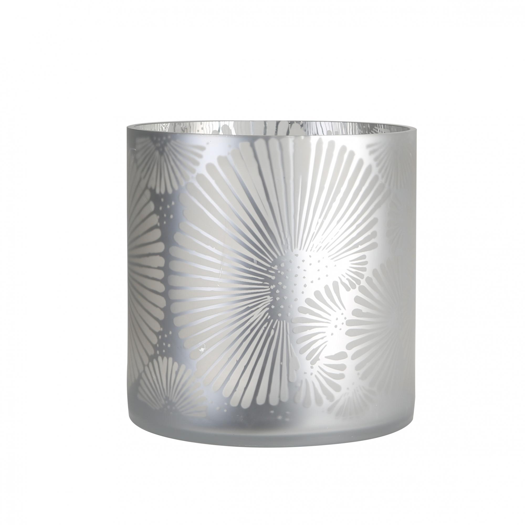 Čajový svícen Joy, 15 cm, stříbrná