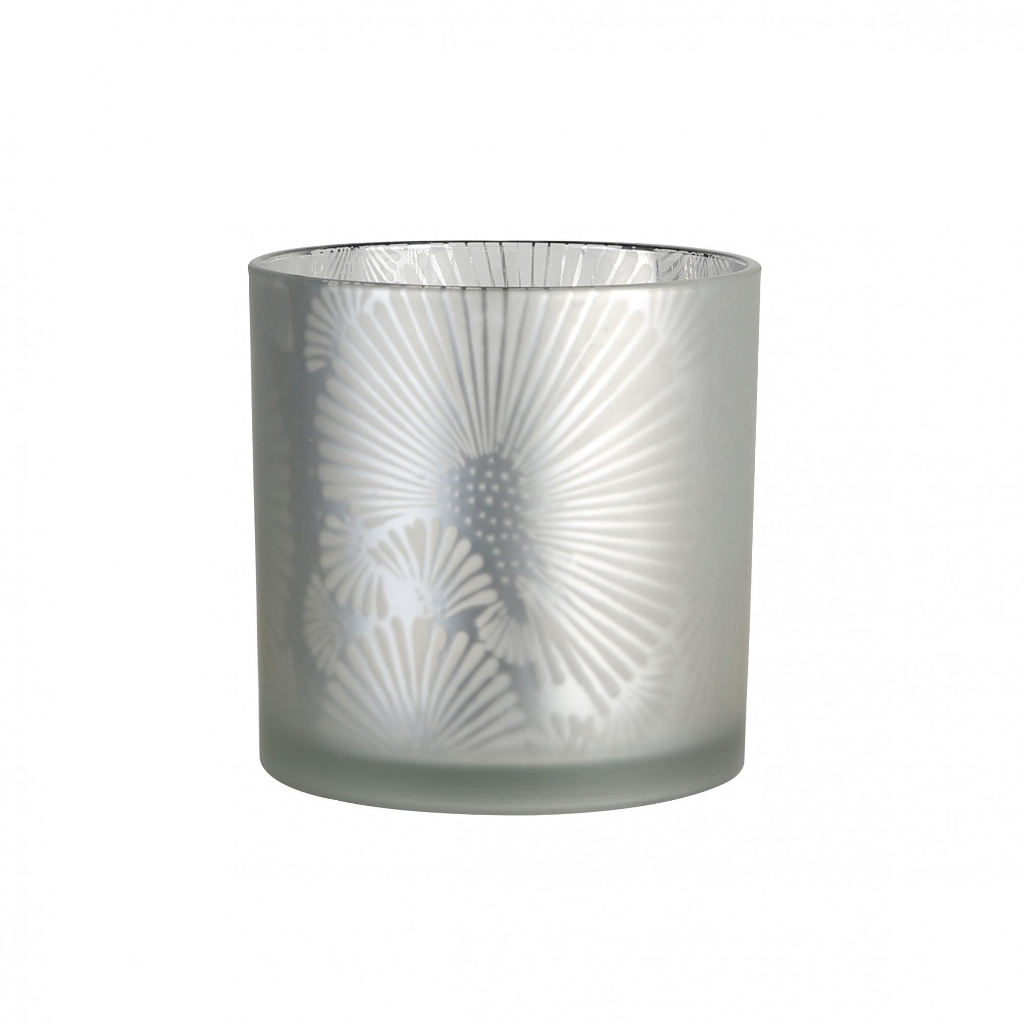 Čajový svícen Joy, 20 cm, stříbrná