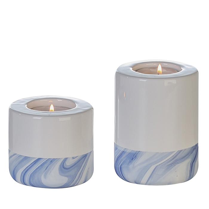 Čajový svícen porcelánový Blue, 7 cm