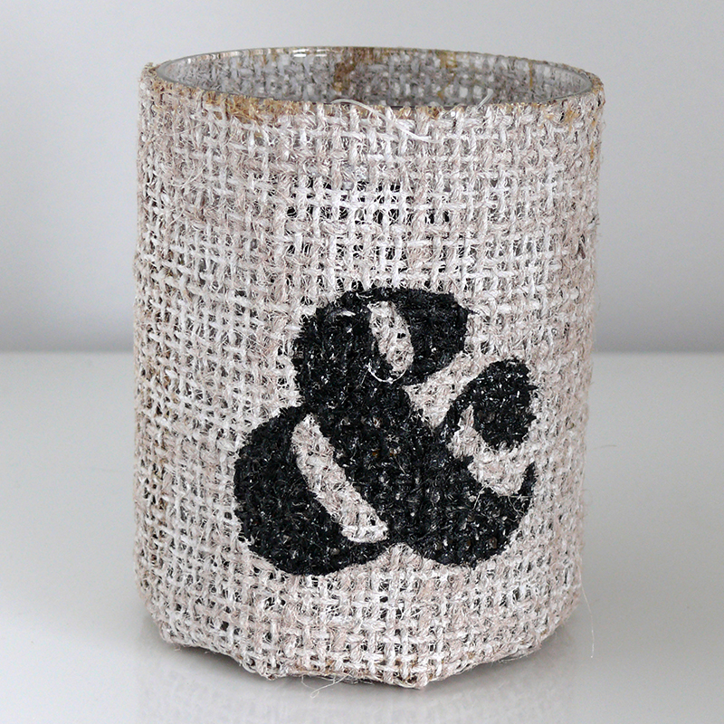 Čajový svícen s jutovým obalem Jodie, 10 cm