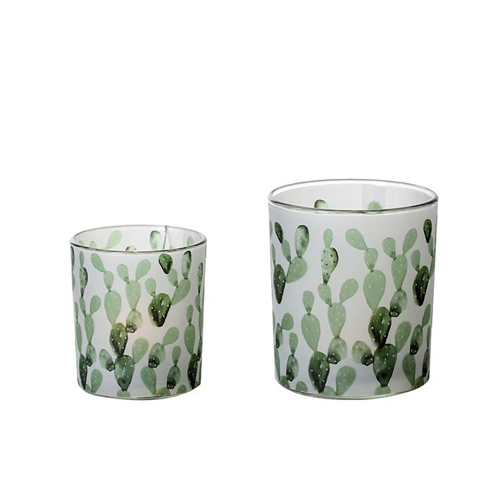 Čajový svícen skleněný Kaktus, 10 cm
