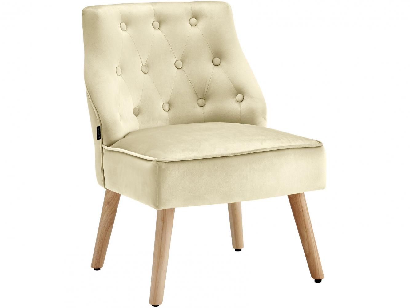 Čalouněná židle Spoky (SET 2 ks), krémová