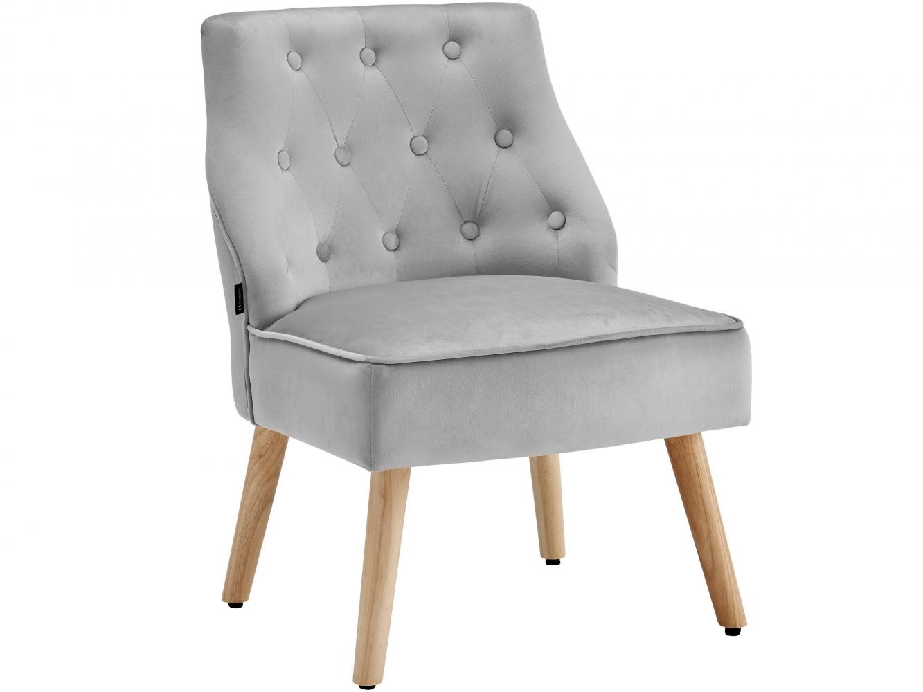 Čalouněná židle Spoky (SET 2 ks), světle šedá