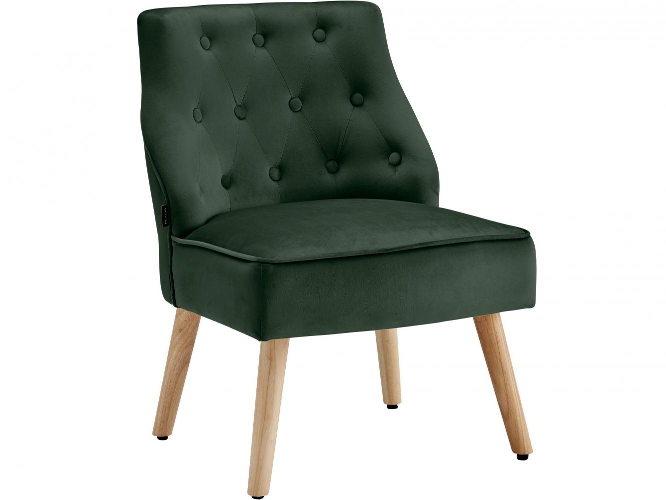 Čalouněná židle Spoky (SET 2 ks), zelená