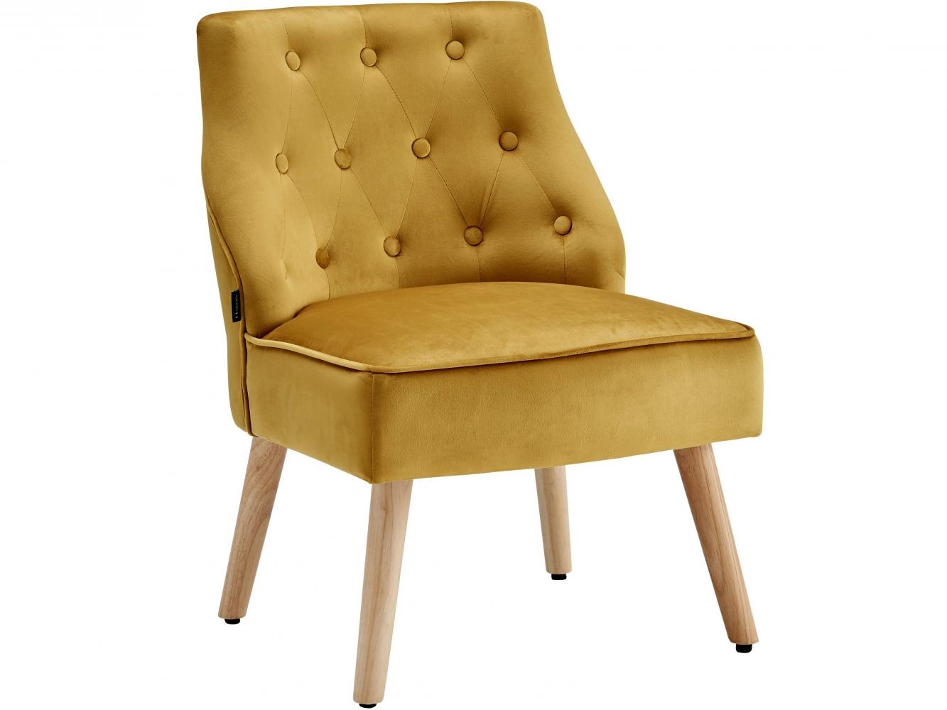 Čalouněná židle Spoky (SET 2 ks), zlatá