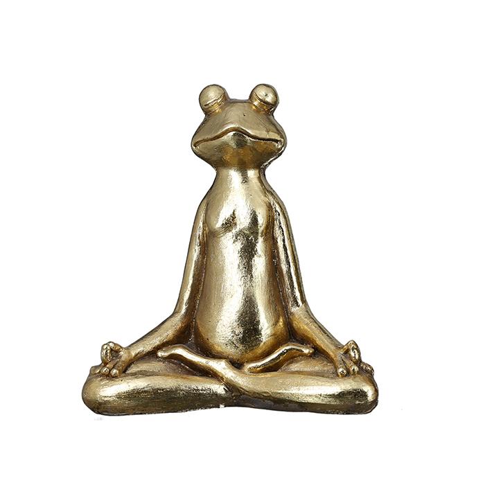 Dekorace Frog, 34 cm, zlatá