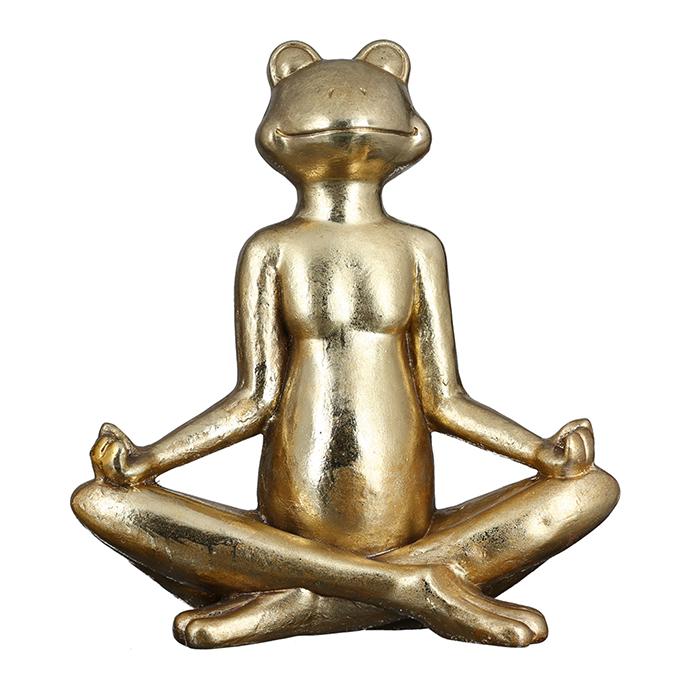 Dekorace Frog, 50 cm, zlatá