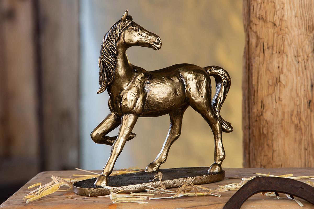 Dekorace Horse II, zlatá