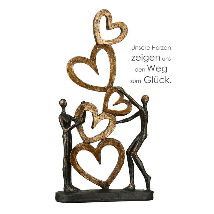 Dekorace Love, 41 cm, bronz
