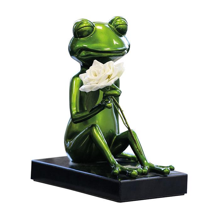 Dekorace na mramorovém podstavci Frosch, 32 cm