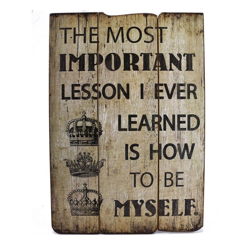 Dekorace / nástěnná tabulka The most important lesson