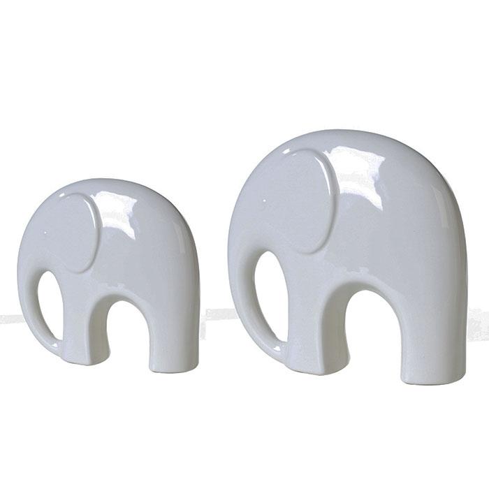 Dekorace porcelánový slon Fridolin, 21,5 cm