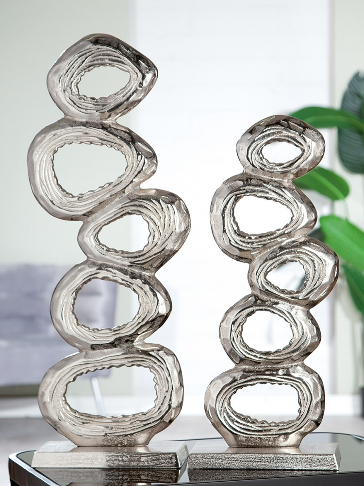 Dekorace Rings, stříbrná