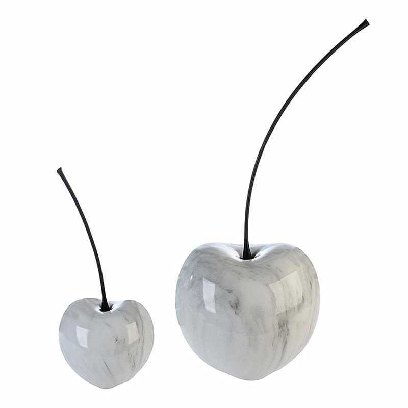 Dekorace třešeň Marble keramická, 60 cm