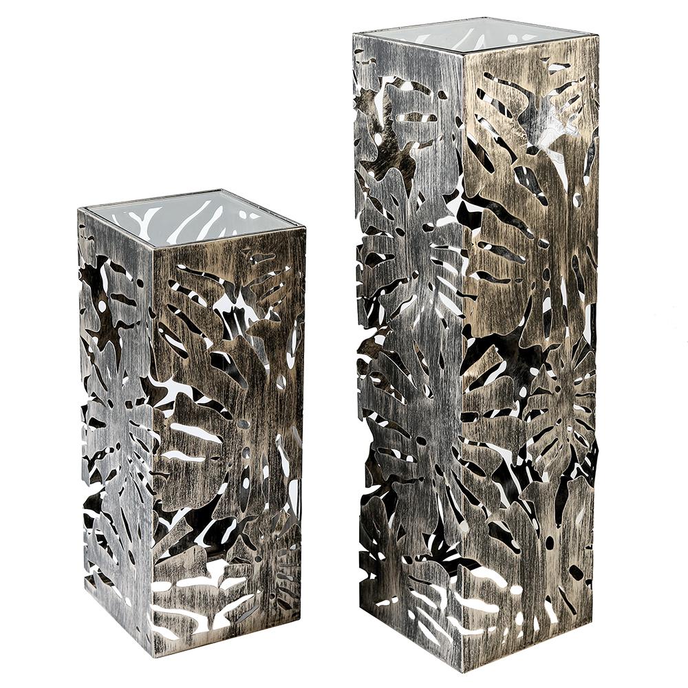 Dekorační sloup kovový Flora, 100 cm