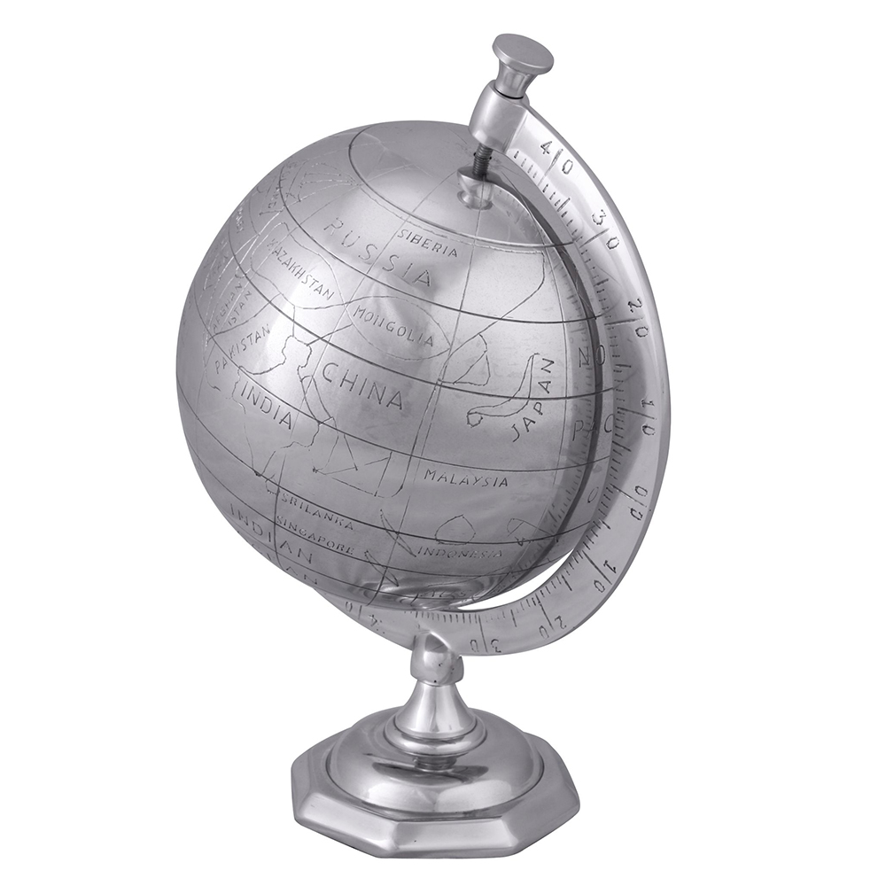 Dekorativní hliníkový Globus, 35 cm