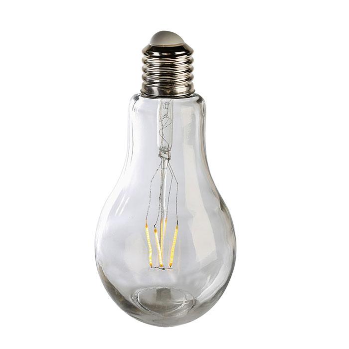 Dekorativní lampa Filaments, 22 cm, čirá