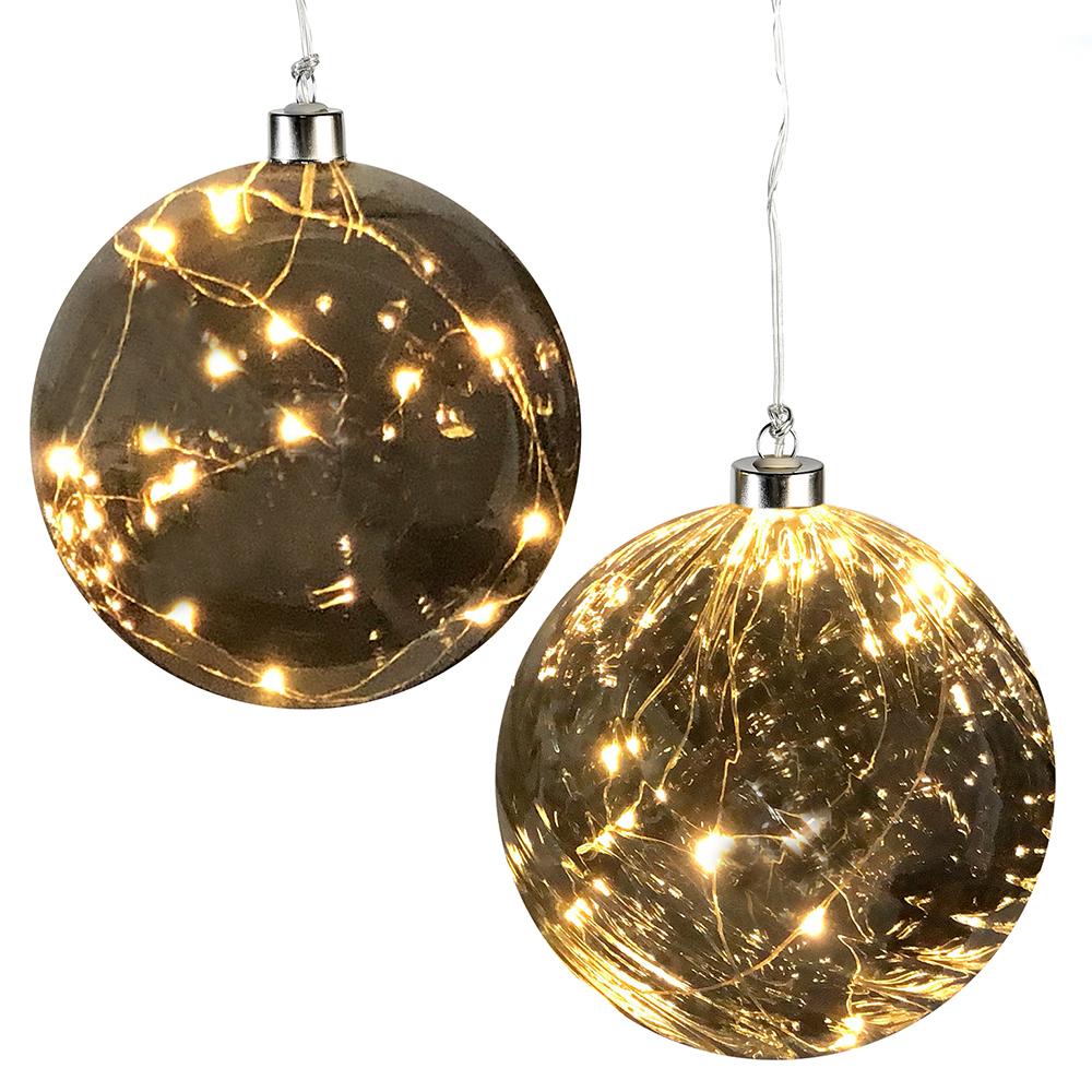 Dekorativní LED lampa Sphere, 12 cm, sada 2 ks