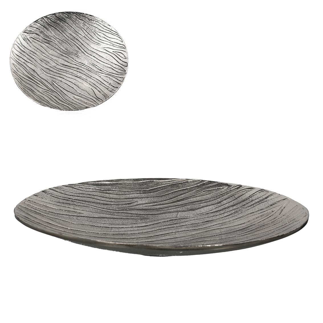 Dekorativní mísa Ross, 45 cm, stříbrná