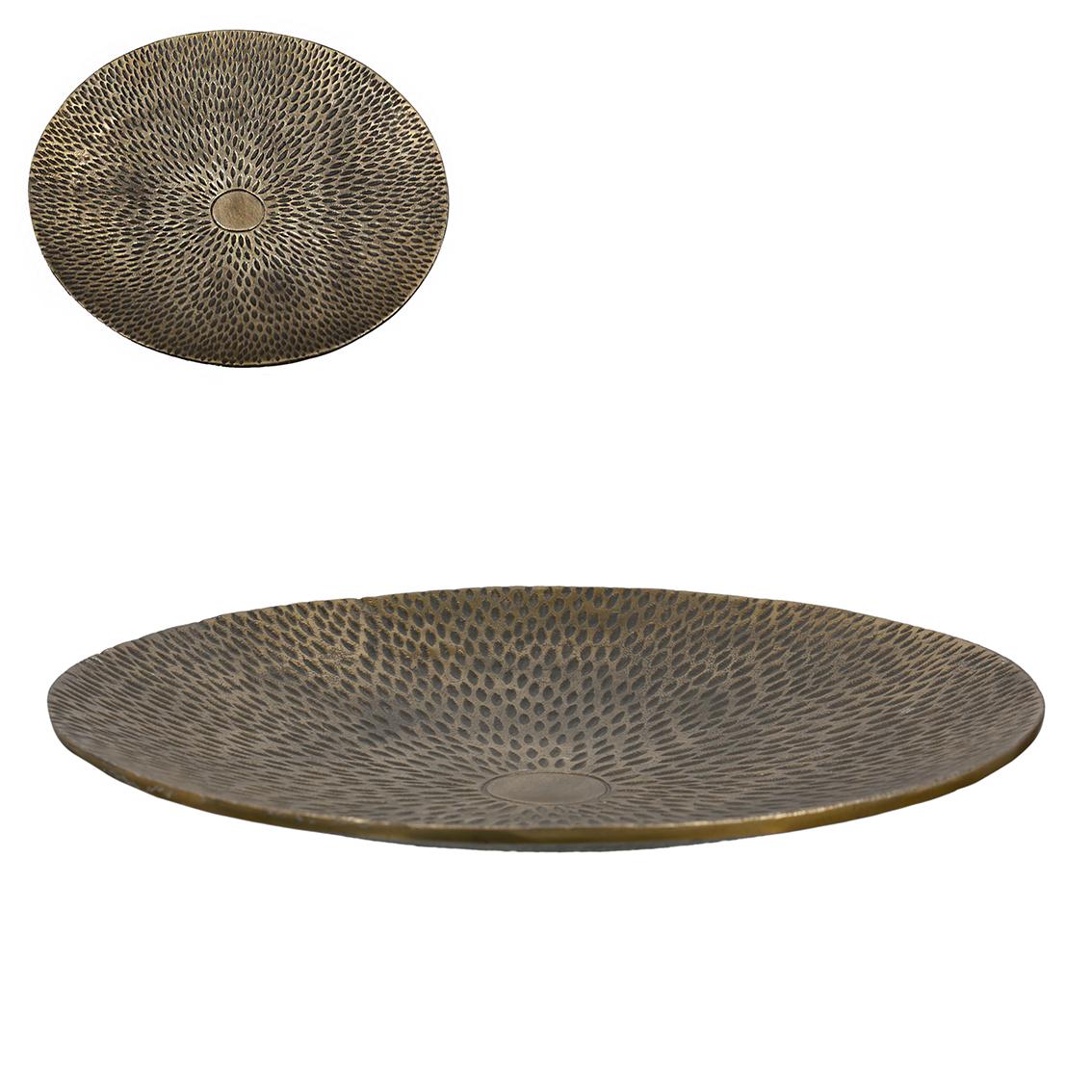 Dekorativní mísa Ruth, 45 cm, zlatá