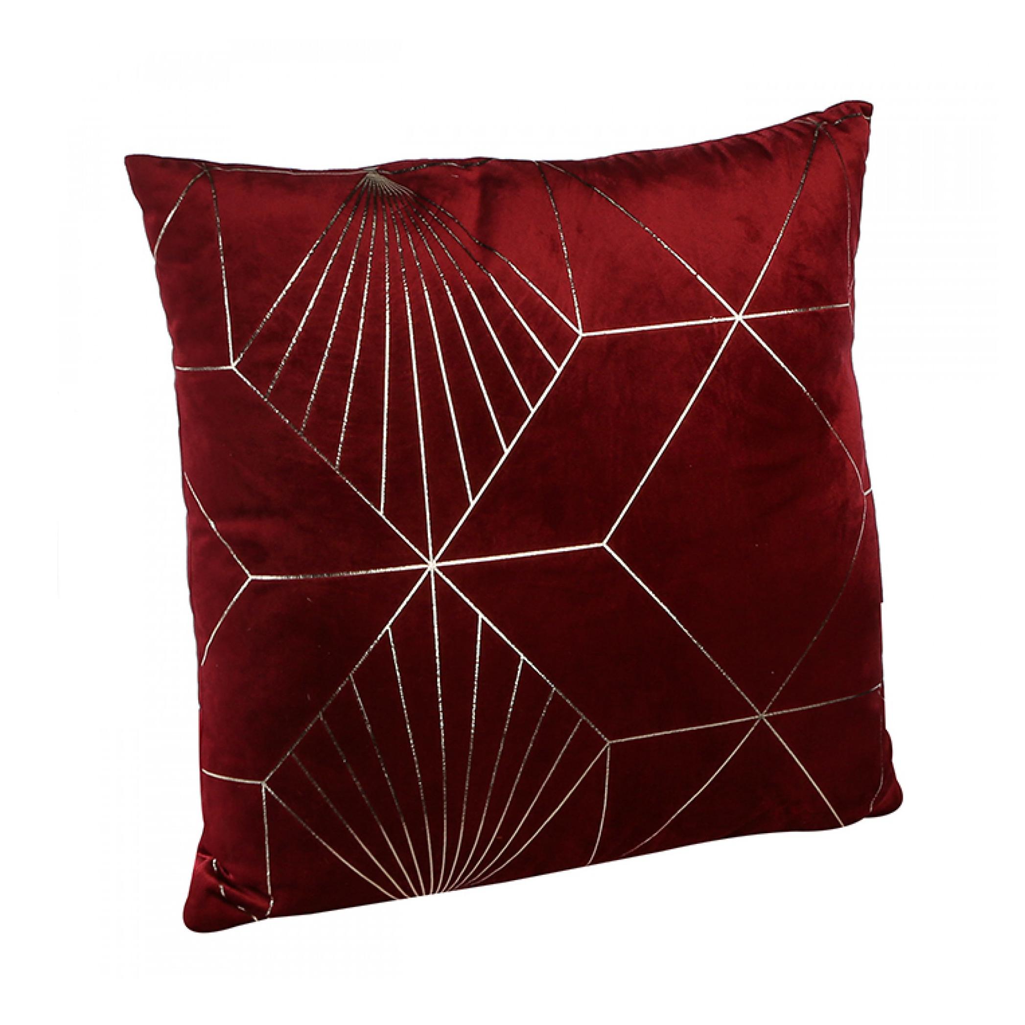 Dekorativní polštář Graphic, 45 cm, červená/zlatá