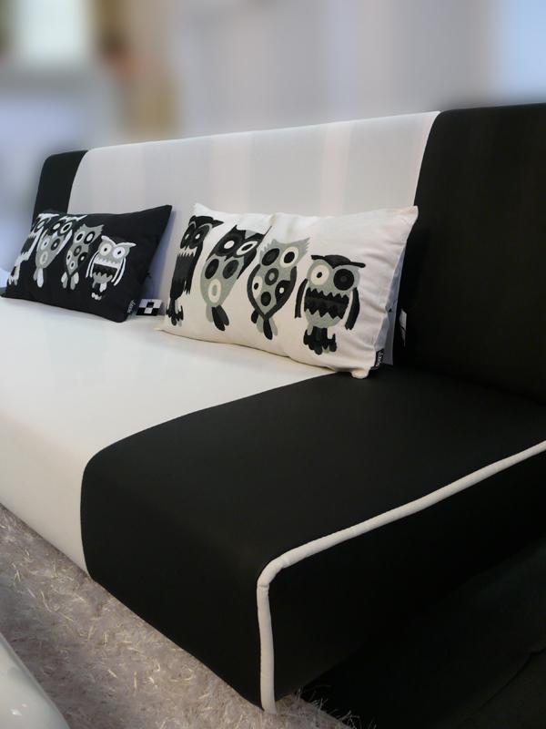 Dekorativní polštář Sovy, 30x60 cm