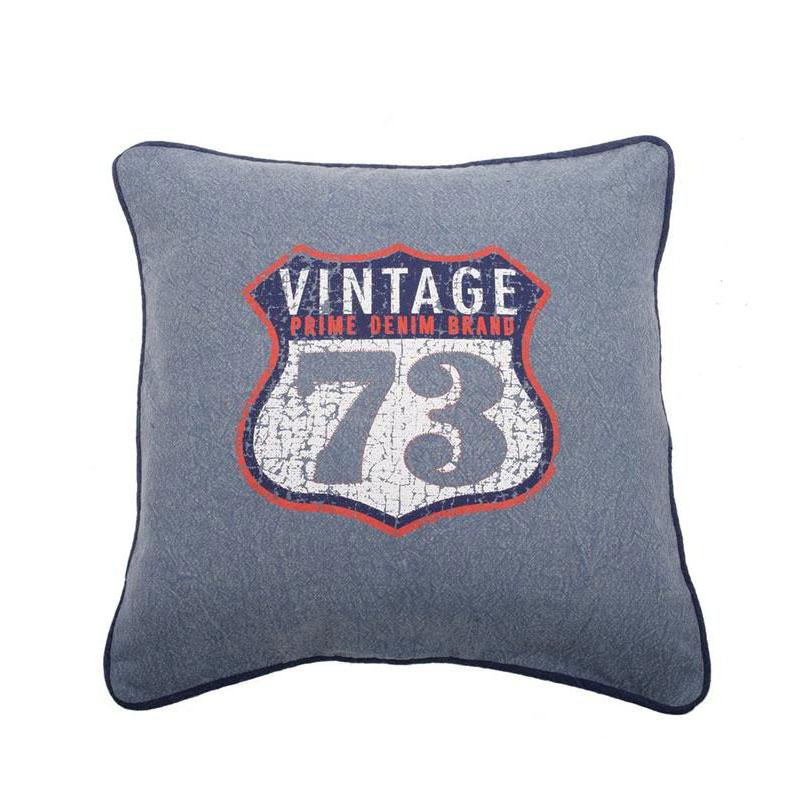 Dekorativní polštář Vintage, 45 cm, světle modrá