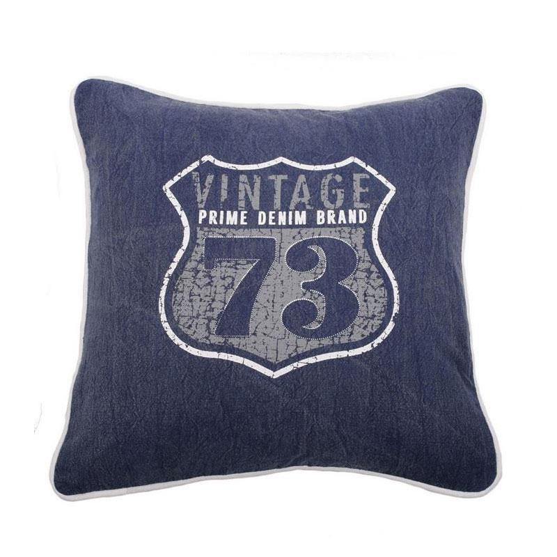 Dekorativní polštář Vintage, 45 cm, tmavě modrá