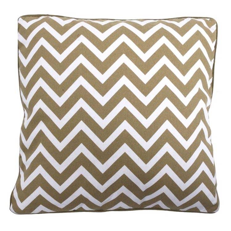 Dekorativní polštář Zick, 45x45 cm béžová / bílá
