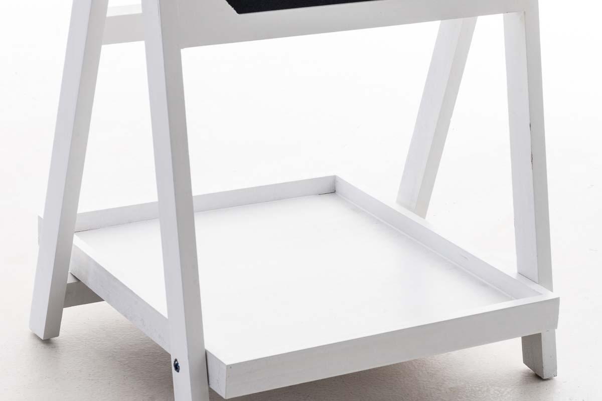 Dekorativní regál s tabulí Karma, 65 cm, bílá